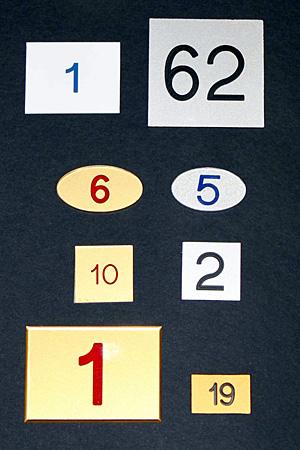 Numerazioni per appartamenti e box